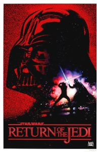 "United States Return of the Jedi Version ""Red foil logo"" 10th Anniversary One-Sheet"