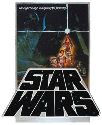 "USA Star Wars Style ""A"" '82 3D Video Counter Standee"