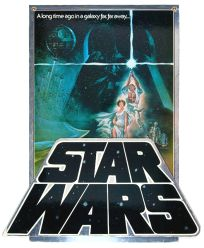 """USA Star Wars Style """"A"""" '82 3D Video Standee"""