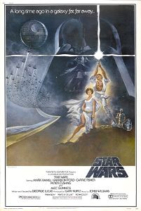 """USA Star Wars Style """"A"""" '82 Video 40 x 60"""