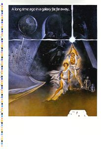 """USA Star Wars Style """"A"""" PMS Proof Artwork Only One-Sheet"""