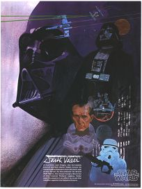 USA Star Wars Coca-Cola Promotional Movie Tie-in Darth Vader Poster #3