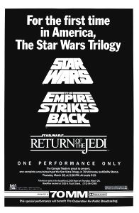 "USA Star Wars ""Carnegie Theatre"" Triple Bill One-Sheet"